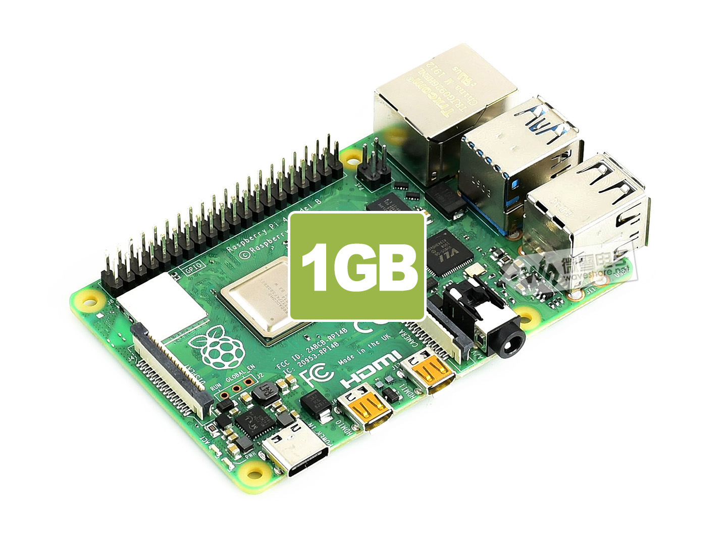Raspberry Pi 4 Model B 1GB 树莓派4代B型
