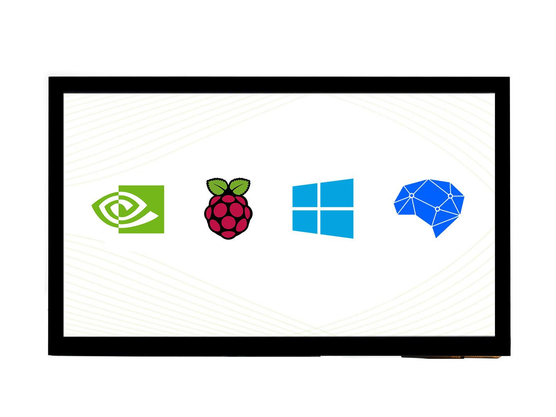 10.1寸电容屏 IPS屏 1024×600 十点触控 全贴合 支持树莓派 Jetson Nano等