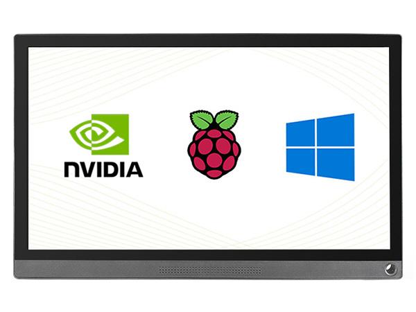 15.6寸电容触摸屏 1920×1080 IPS Type-C/HDMI 钢化玻璃面板 高兼容性