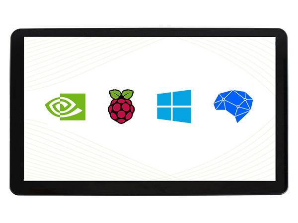15.6寸电容屏H版 1920×1080 IPS 钢化玻璃面板 高兼容性