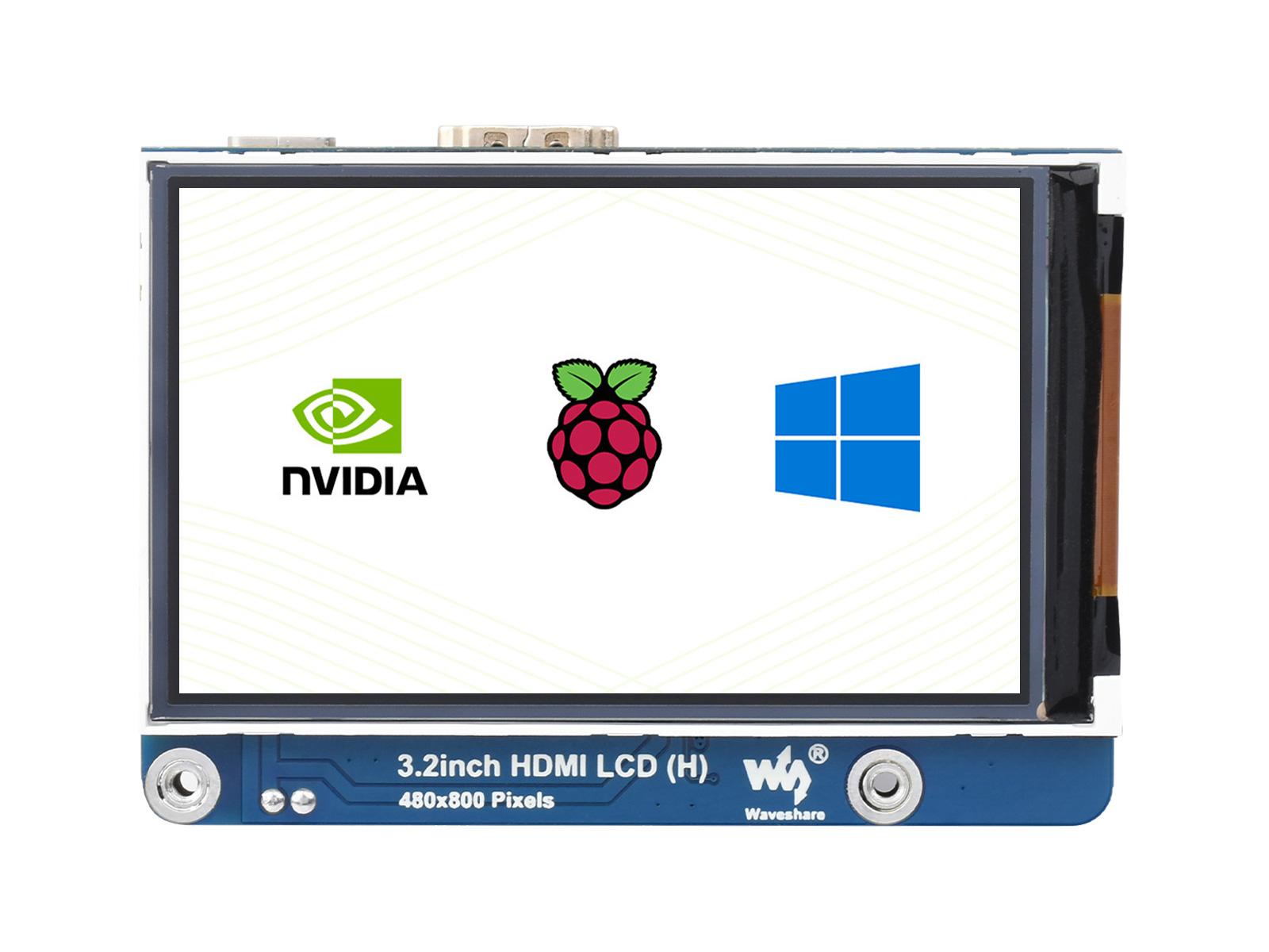 3.2寸IPS显示屏 480×800 亮度可调节