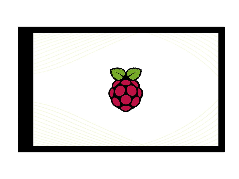 4寸480×800树莓派IPS电容触控屏 钢化玻璃面板