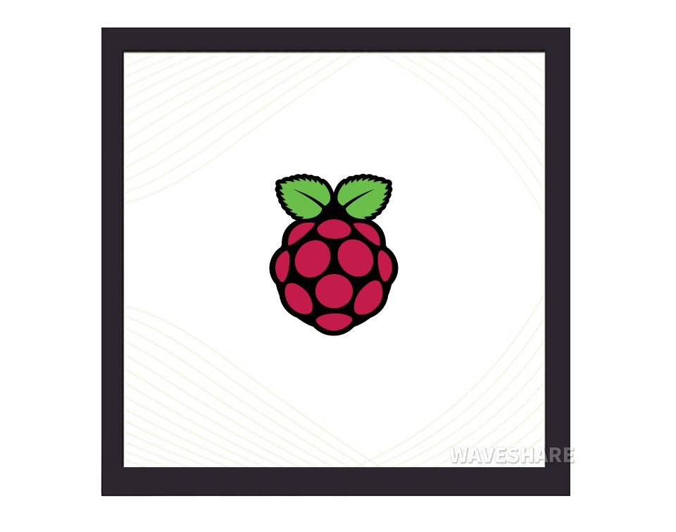 4寸720×720正方形树莓派IPS电容触控屏 钢化玻璃面板