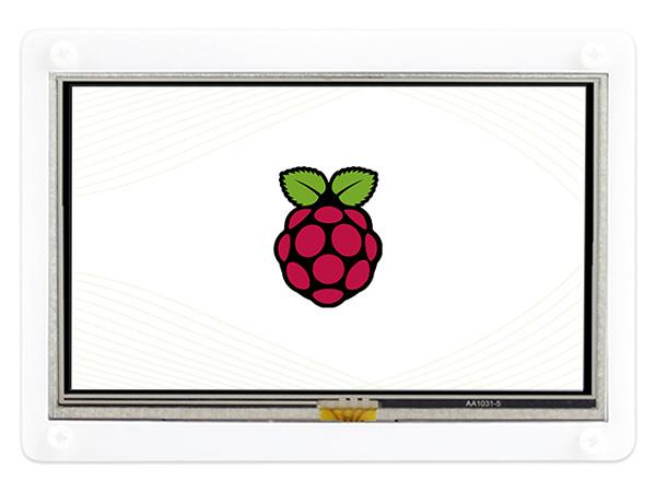 5寸树莓派电阻屏A版 带壳 800×480 低功耗版