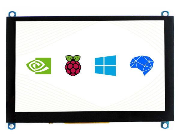 5寸电容屏H版 800×480 钢化玻璃面板 高兼容性