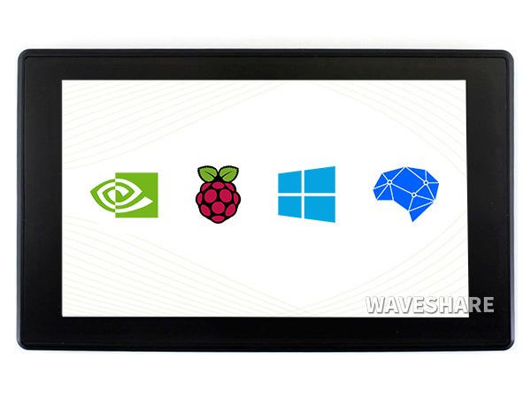 7寸电容屏H版 带壳 1024×600 IPS 钢化玻璃面板 高兼容性