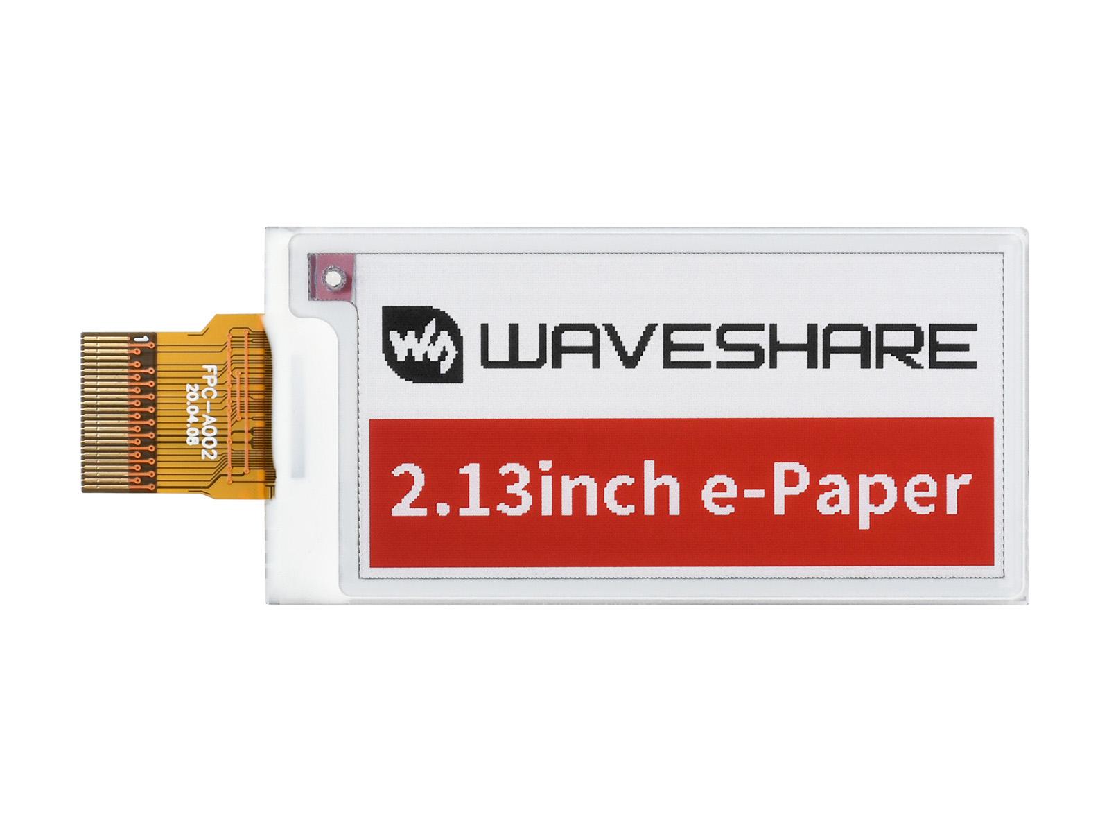 2.13寸墨水屏裸屏 e-Paper 212×104分辨率 红黑白