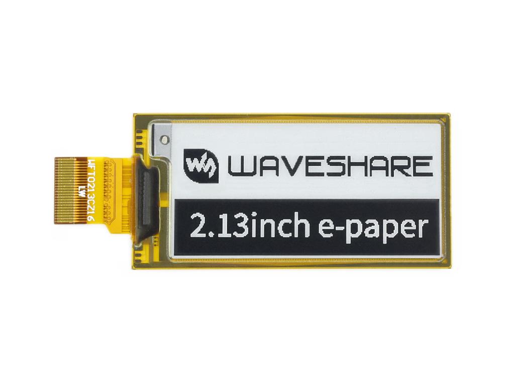 2.13寸柔性墨水 e-Paper 黑白 212×104分辨率
