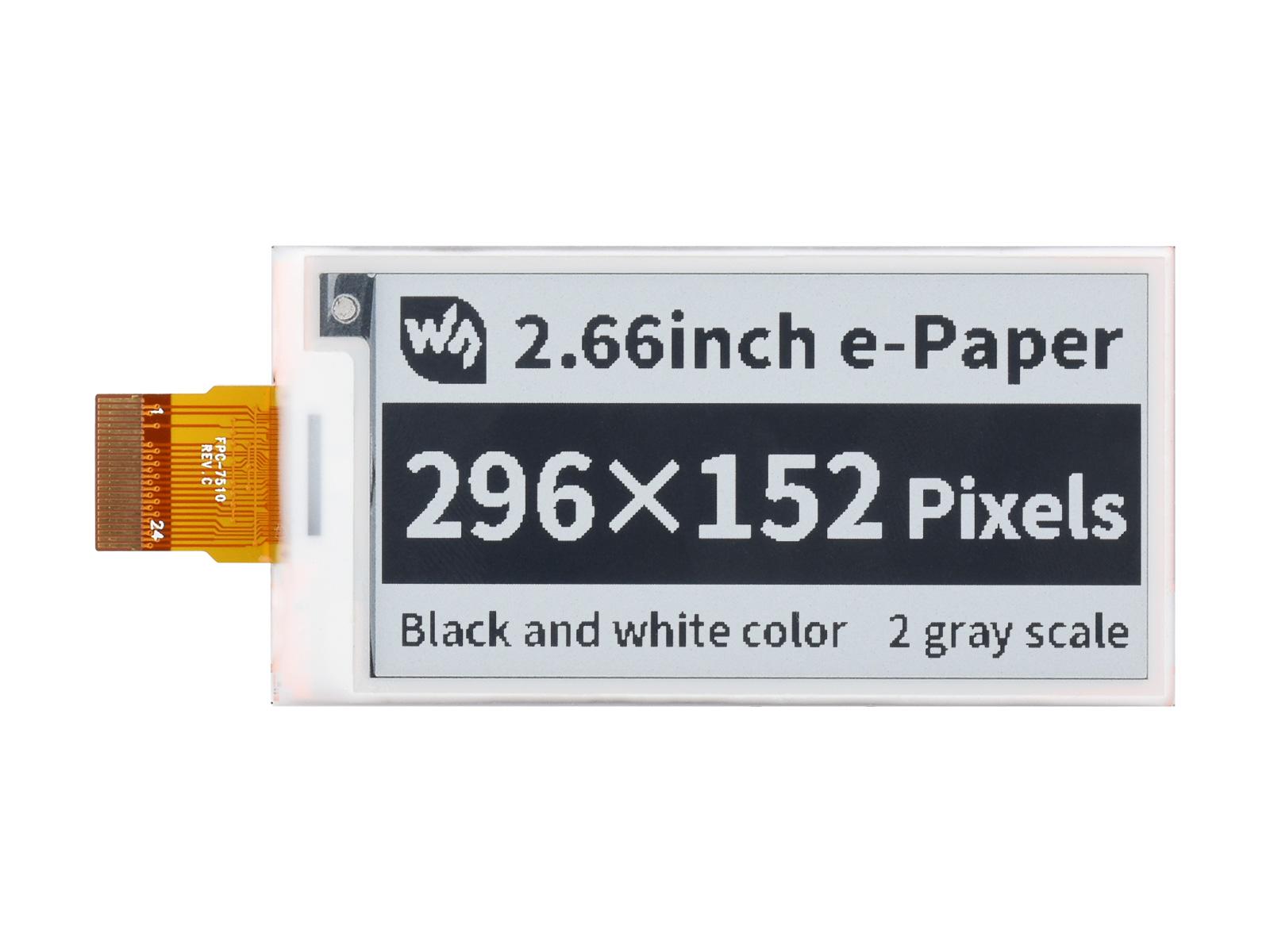 2.66寸e-Paper电子墨水屏裸屏296×152像素 SPI通信