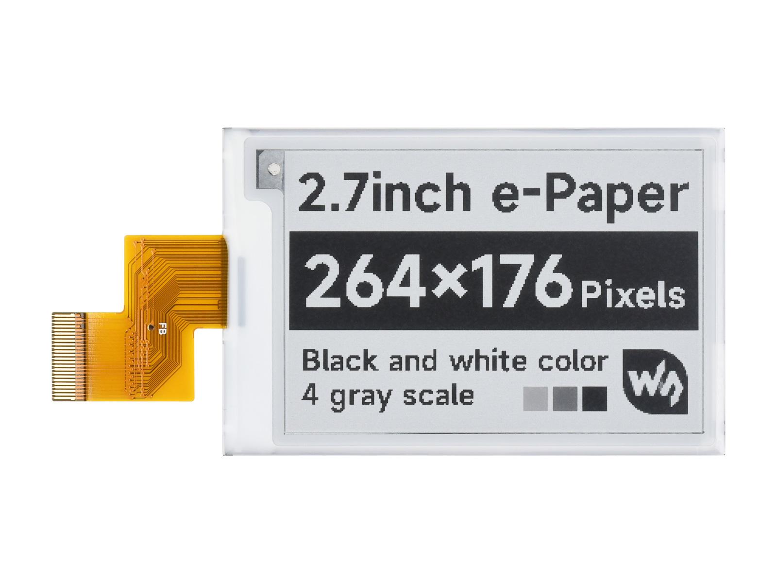 2.7寸电子墨水屏 264×176分辨率 黑白  e-paper 电子纸