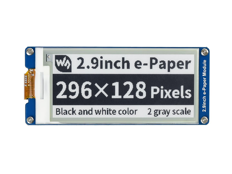 树莓派2.9寸电子墨水屏 296x128分辨率 黑白 e-paper