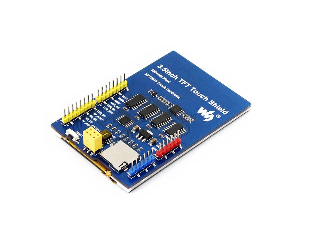 【一分钟自我介绍】 我是一款兼容Arduino接口的电阻触摸屏,3.5寸,480×320分辩率。 你的Arduino系统需要图形交互界面?想给你的Arduino系统添加一个显示器?Come on, Baby! 【我的特点】