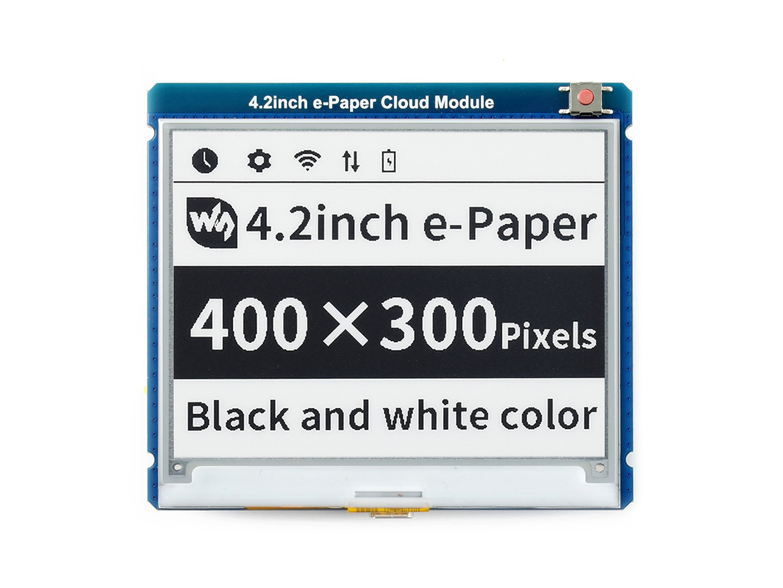 4.2寸e-Paper 电子墨水屏模块400×300像素 WiFi通信