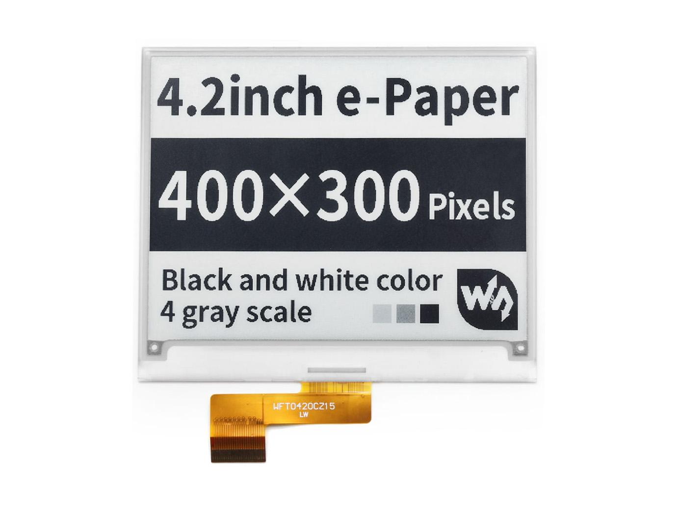 4.2寸电子墨水屏 e-paper 400x300分辨率 黑白