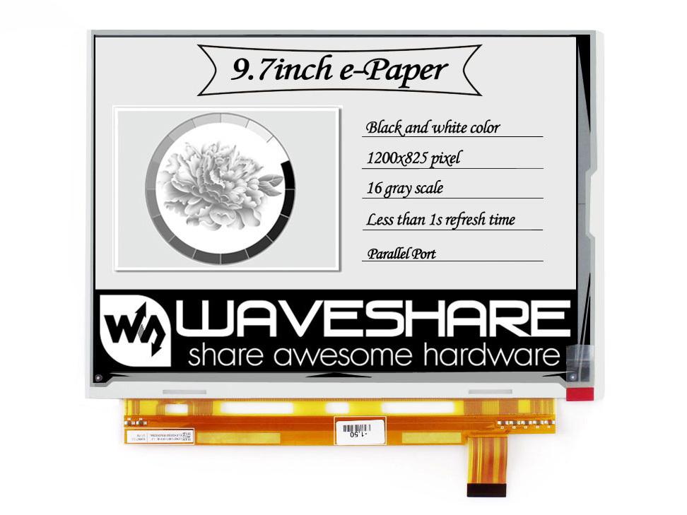 9.7寸电子墨水屏裸屏 1200×825分辨率 16灰度级