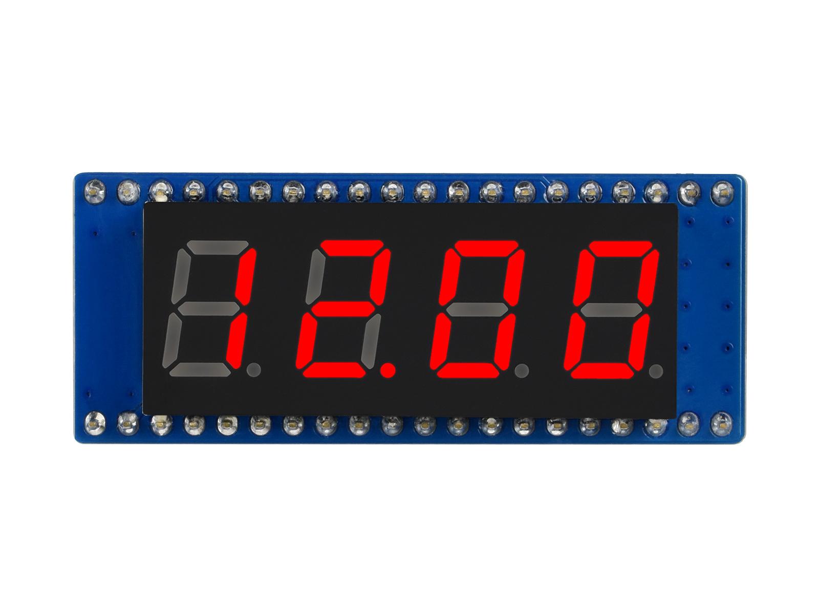 4位8段数码管树莓派Pico扩展板 兼容SPI接口