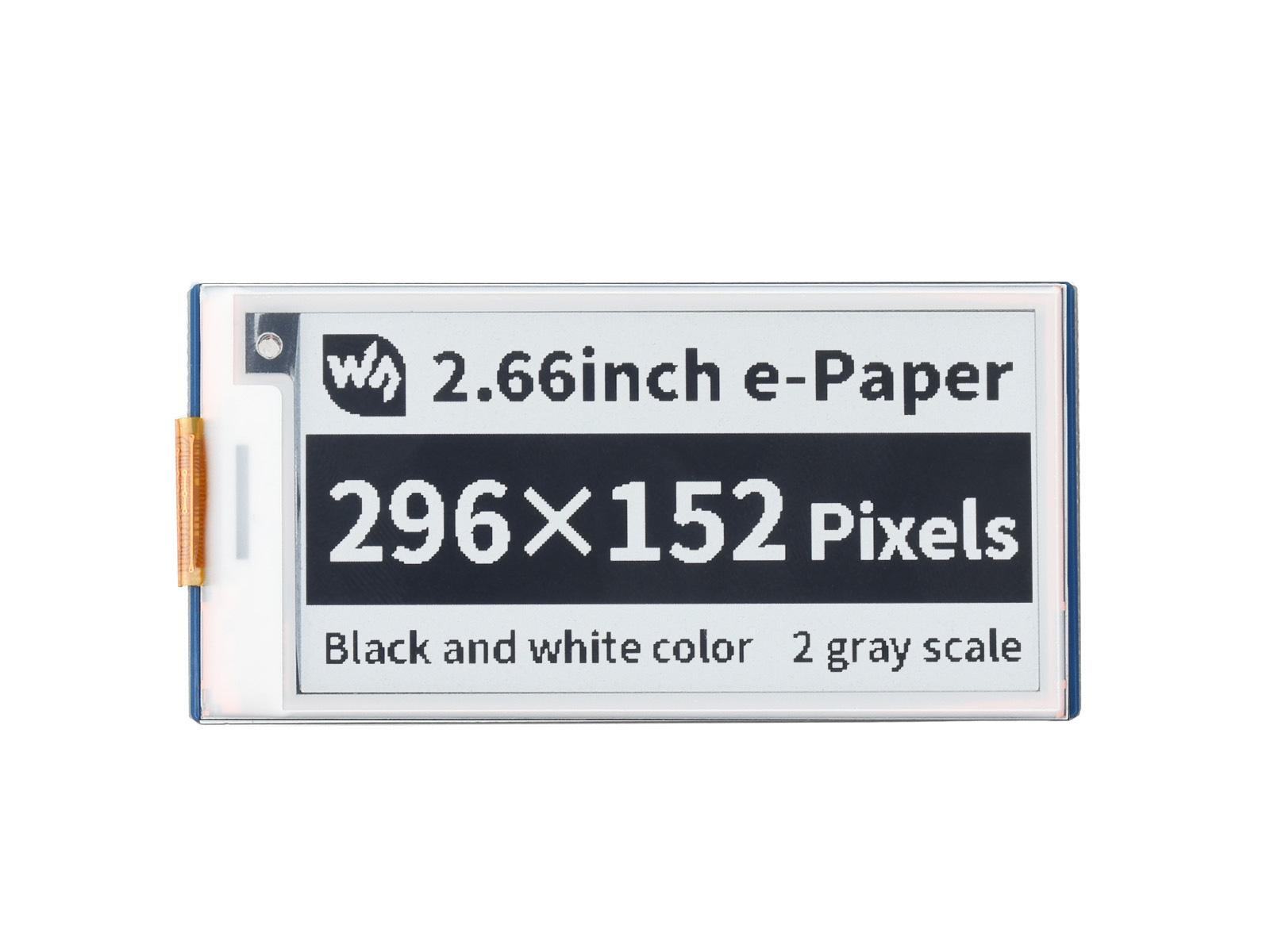 2.66寸Pico电子墨水屏扩展板 e-paper 296×152分辨率 SPI通信