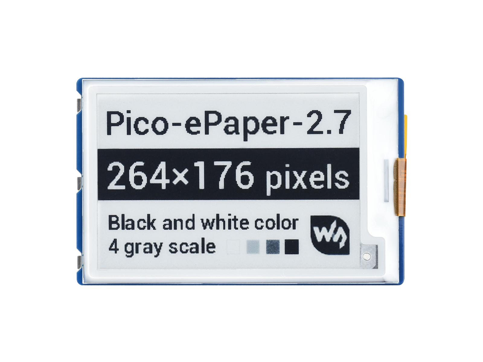 2.7寸电子墨水屏Pico扩展板 e-Paper 264×176分辨率 SPI通信