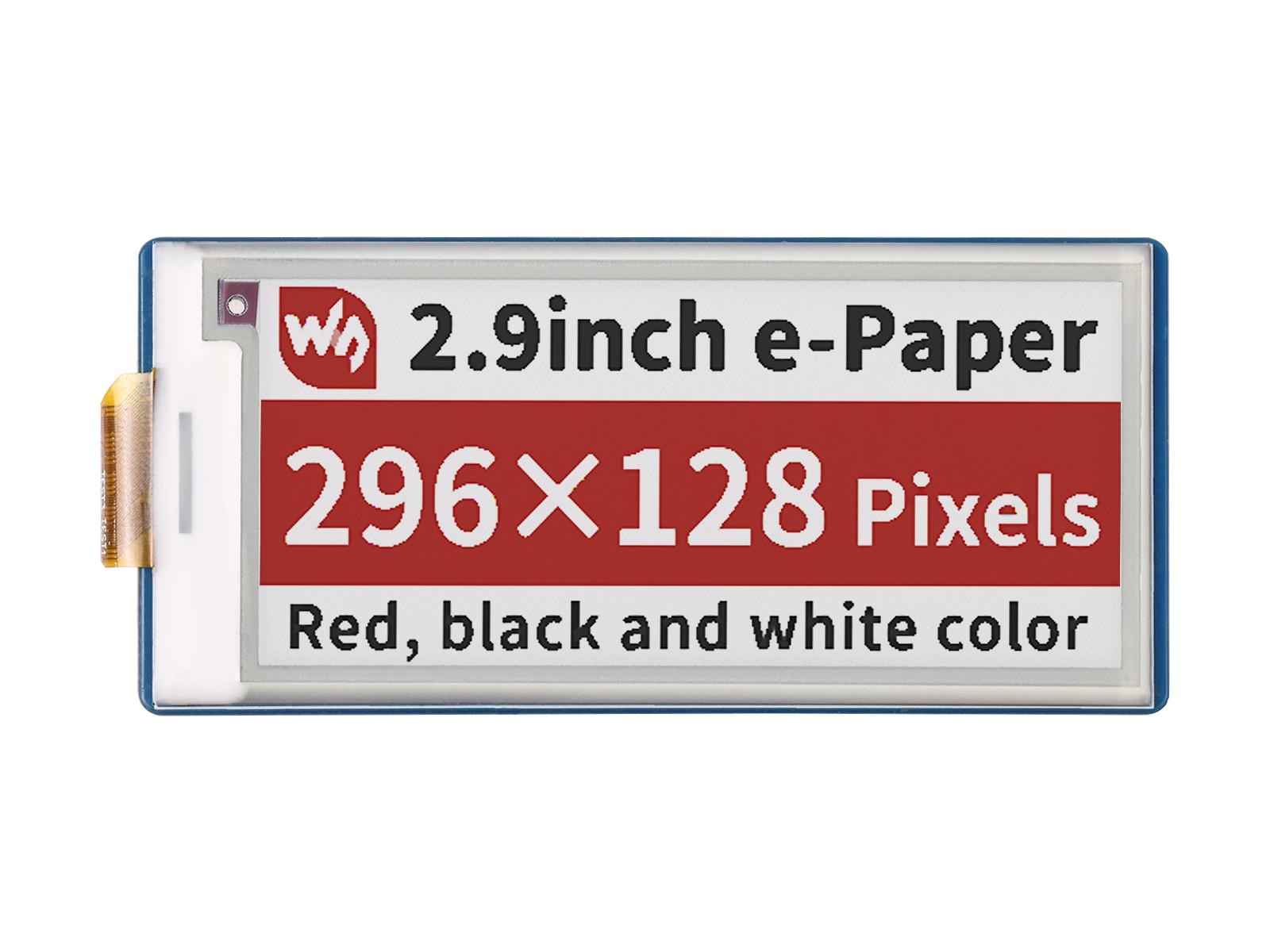 2.9寸Pico电子墨水屏扩展板B型 e-paper 296×128分辨率 SPI通信