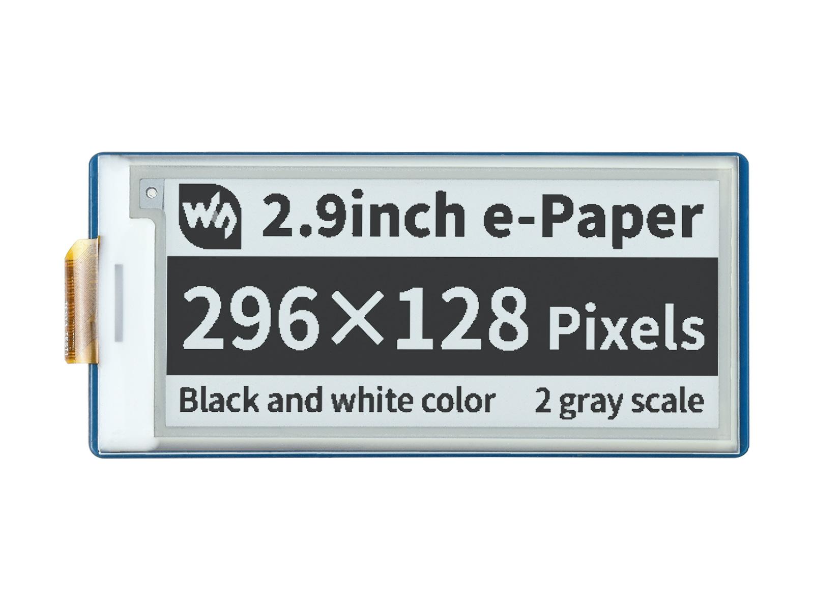 2.9寸Pico电子墨水屏扩展板 e-paper 296×128分辨率 SPI通信
