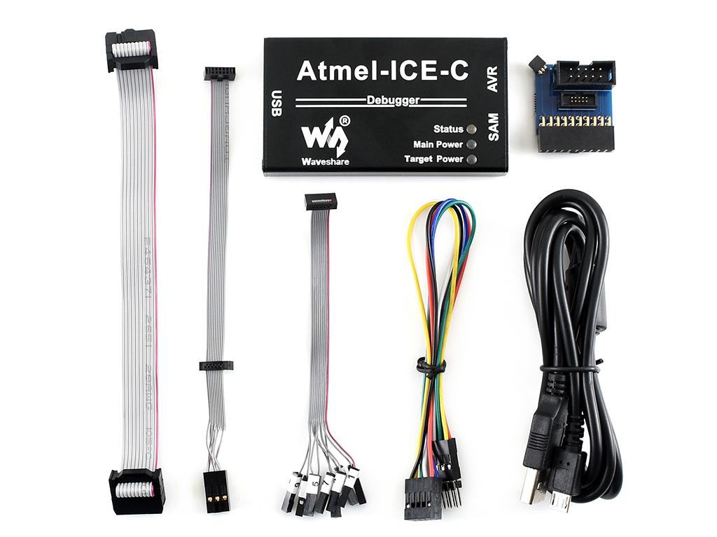 ATMEL-ICE-PCBA 黑色铝合金外壳版本 配件升级版