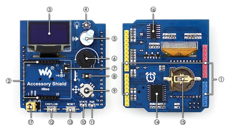 arduino功能扩展板 | accessory shield