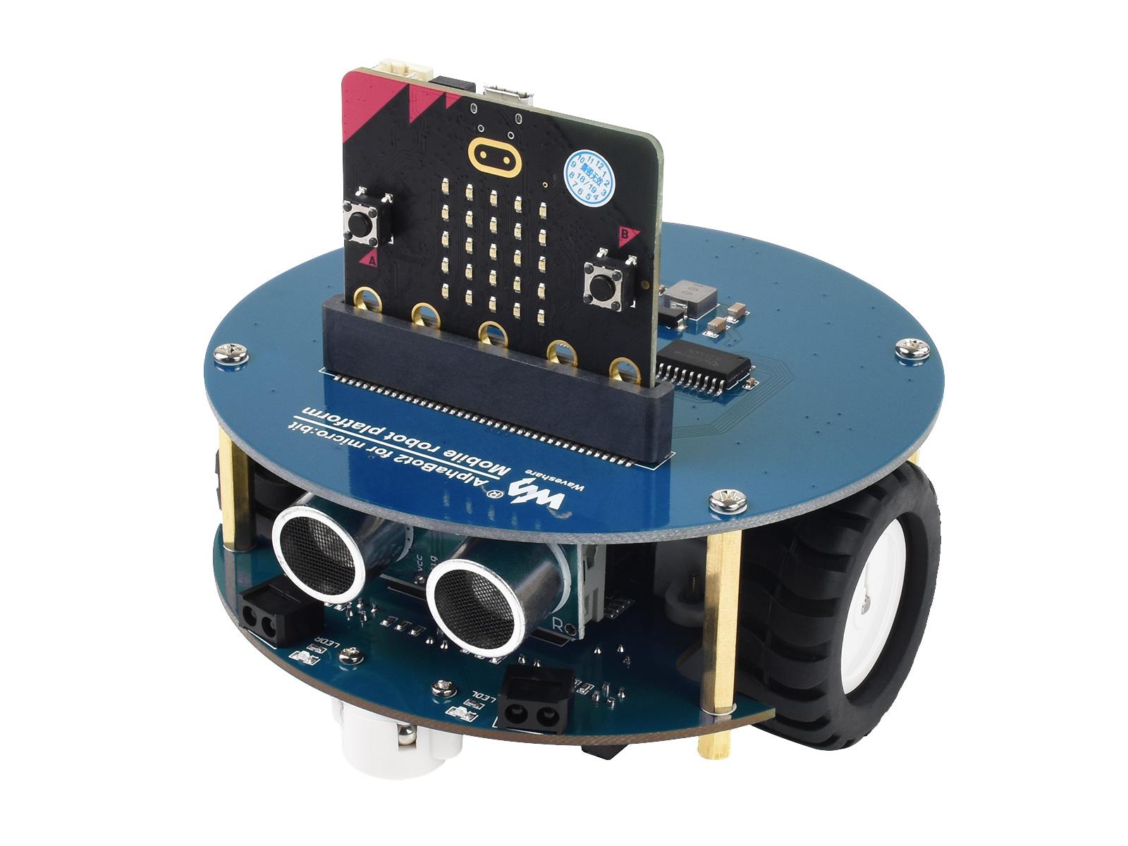 micro:bit V2智能车机器人智能车套件 快速入门寻迹小车