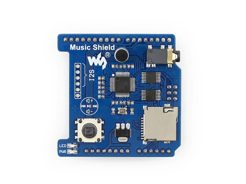 arduino mp3播放器扩展板正视图
