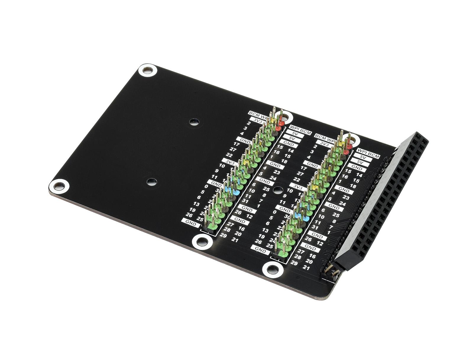 Raspberry Pi 400接口转接模块 (斜立式) 接口扩展延长 双排