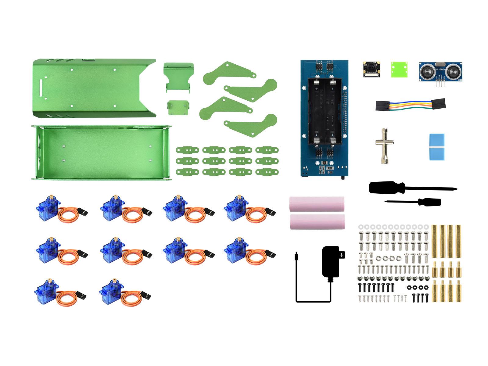 PIPPY 四足机器人基于树莓派开源仿生机器狗配件包