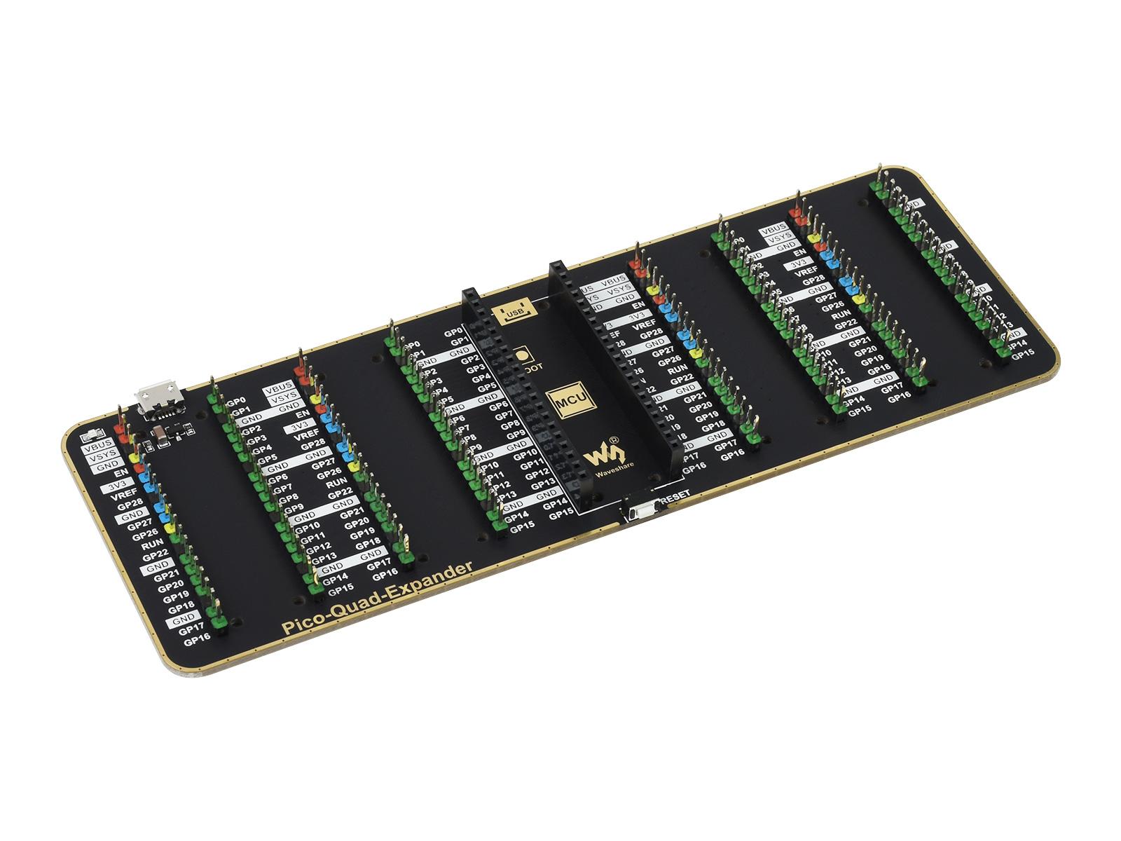 树莓派Pico接口外扩板 4组2×20树莓派Pico标准接口