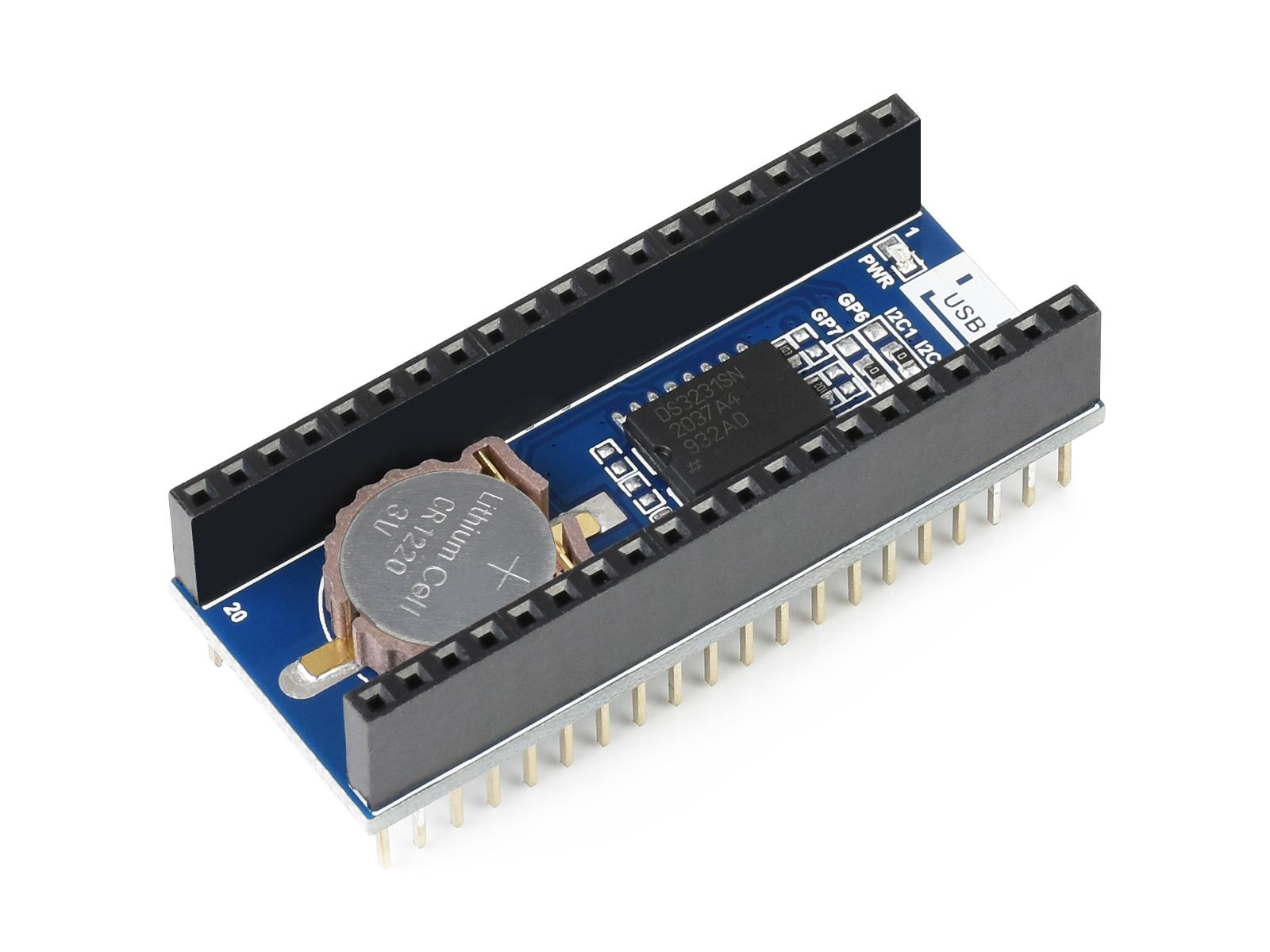 树莓派Pico RTC扩展板 板载高精度DS3231时钟芯片