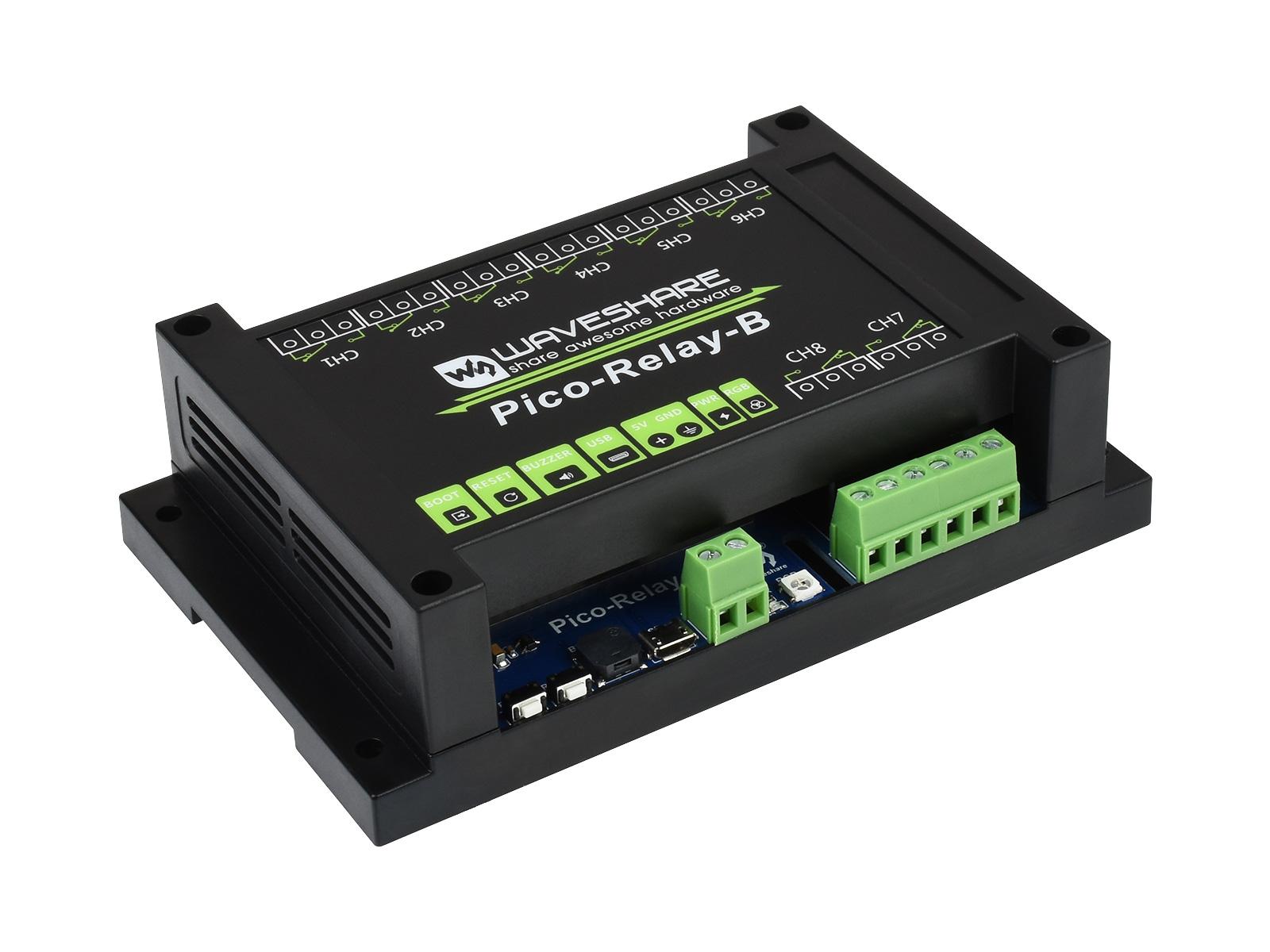 工业级 8 路继电器 Pico 模块