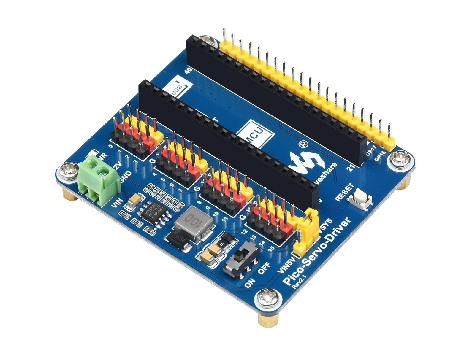 树莓派Pico舵机驱动扩展板 支持16路16位分辨率