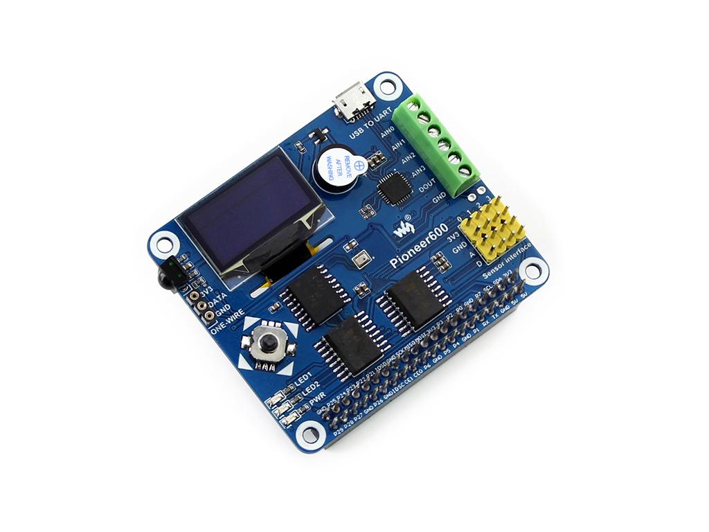 树莓派多功能扩展板 ADDA RTC 传感器 0.96OLED 串口等
