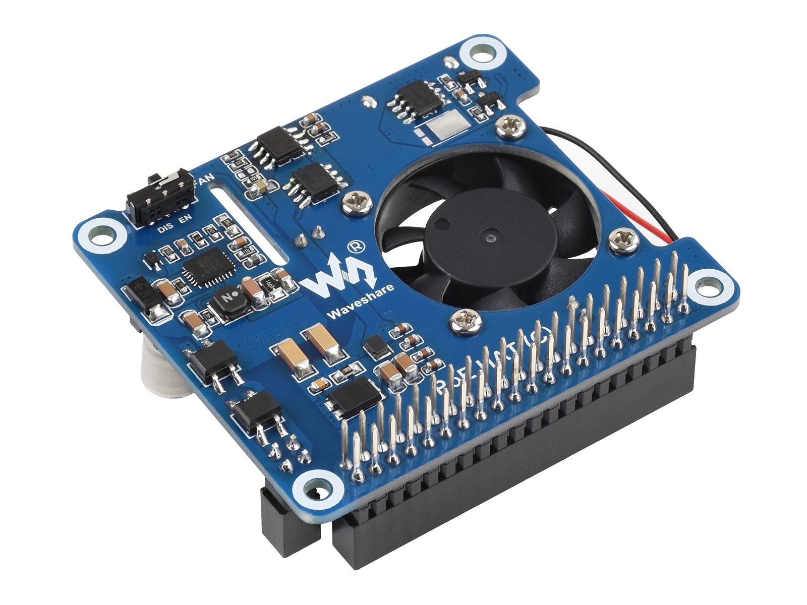 树莓派以太网供电扩展板C型 适用于树莓派3B+/4B,支持802.3af/at网络标准