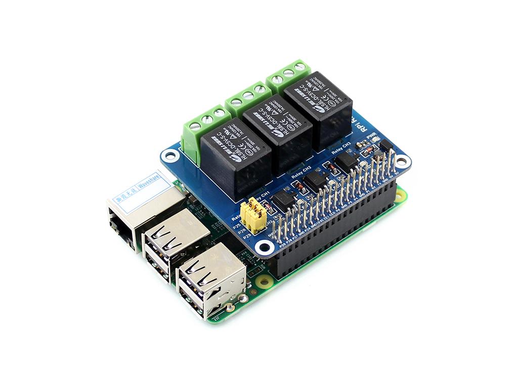 树莓派 rpi a /b /2b/3b 树莓派继电器模块接上树莓派