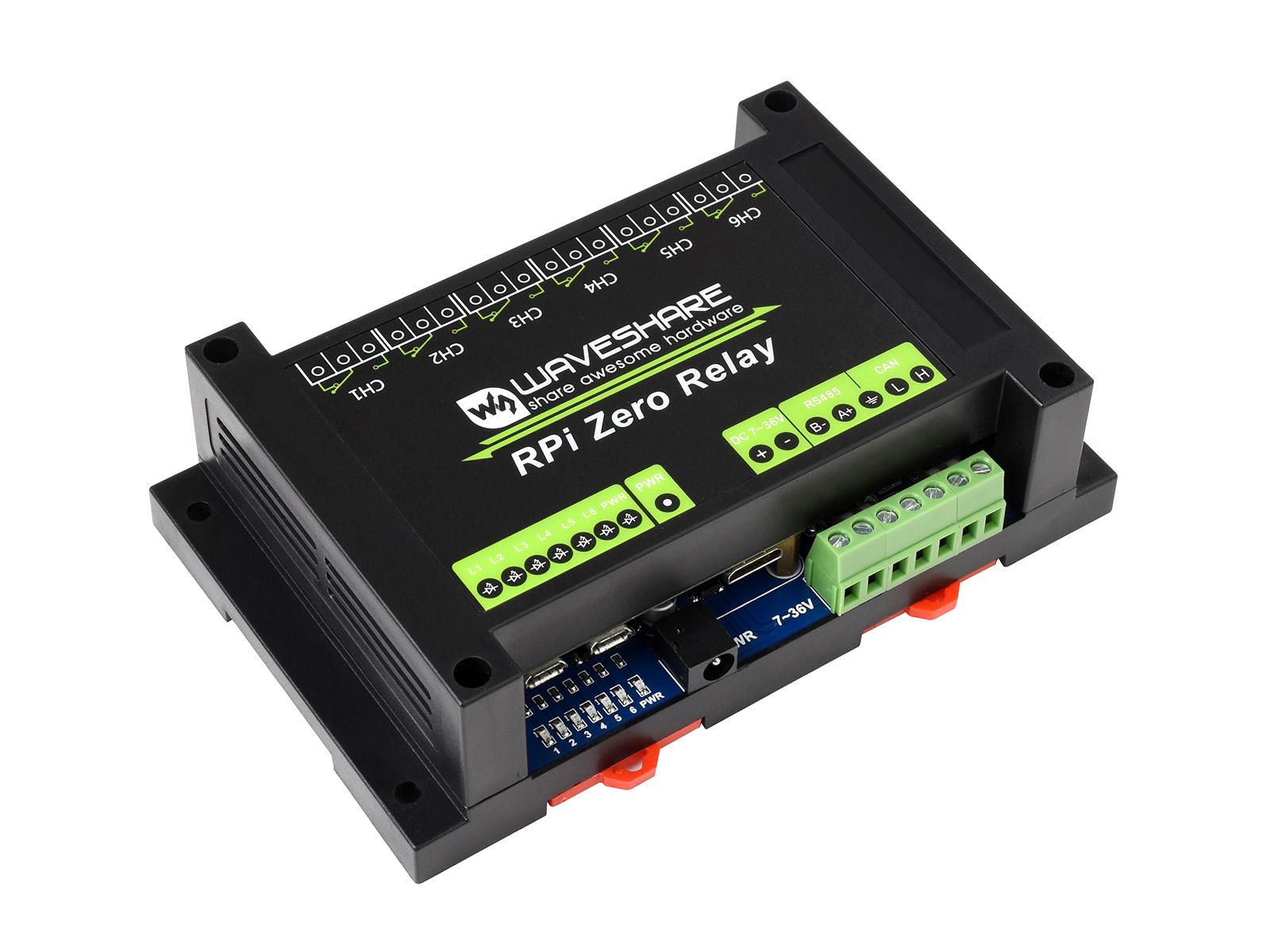 RS485 CAN工业级扩展板  6路继电器模块