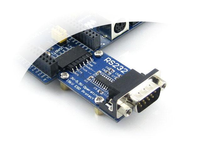 带esd保护,支持流控制 典型应用: 串口电平转换 主要资源: sp3232,db9
