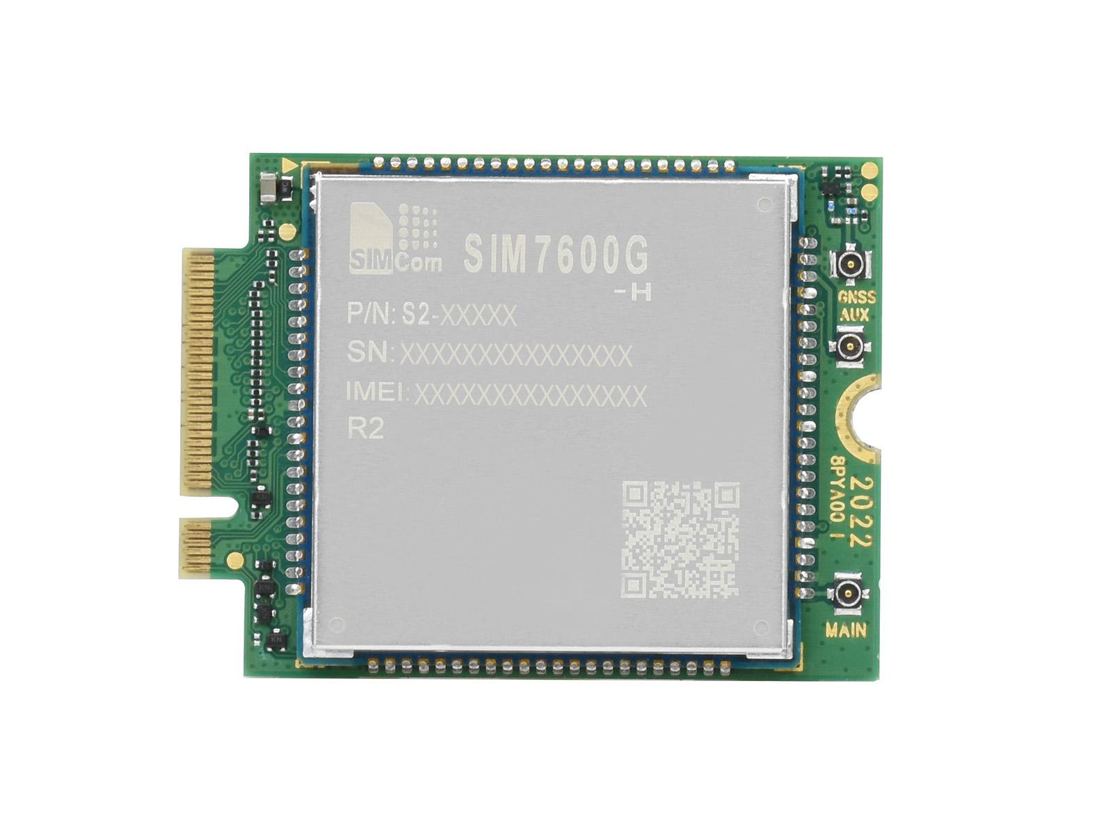 SIMCom原装4G全球通用SIM7600G-H M.2接口GNSS全球定位无线通讯模块LTE Cat-4模组