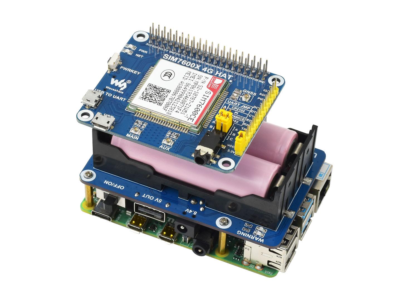 SIM7600 + UPS +Pi4B