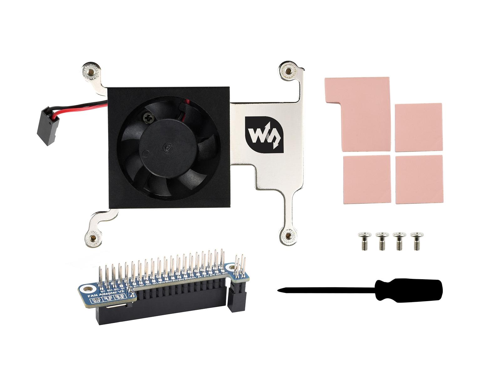 树莓派CPU散热风扇 树莓派4/3B+/3B适用 带GPIO接口转接板