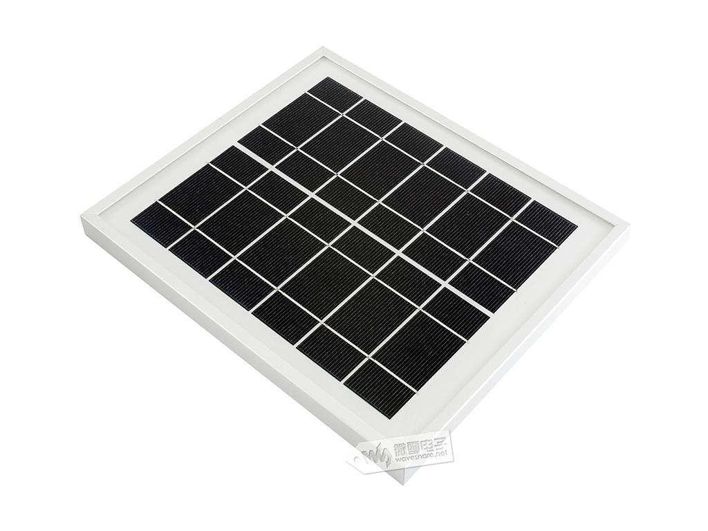 太阳能板 (6V 5W)  156单晶硅电池片