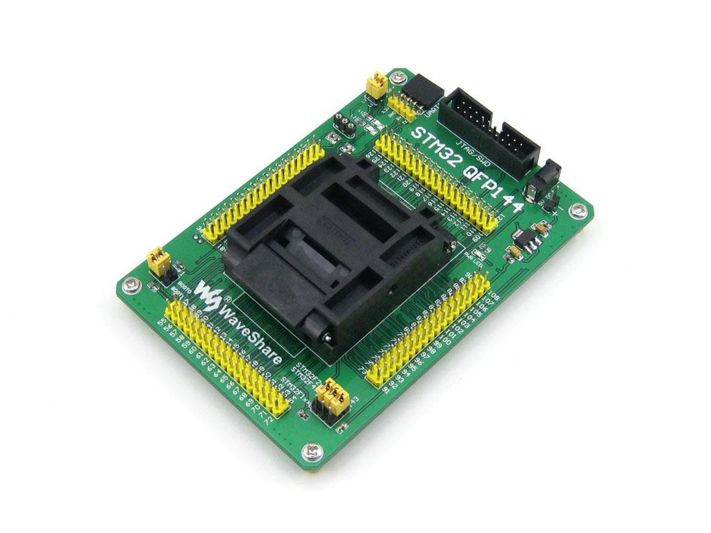 STM32专用编程座 烧写座 QFP144 0.5mm 原装进口座子