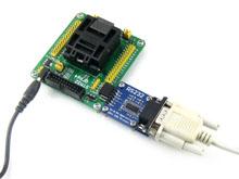 STM32-QFP64测试座接入RS232模块示意图