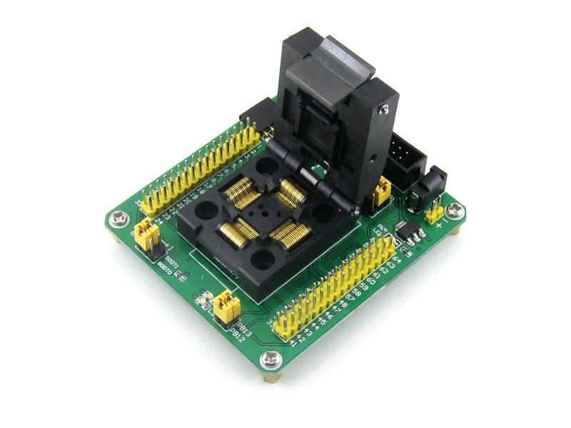 STM32专用编程座 烧写座 QFP64 0.5mm 原装进口座子