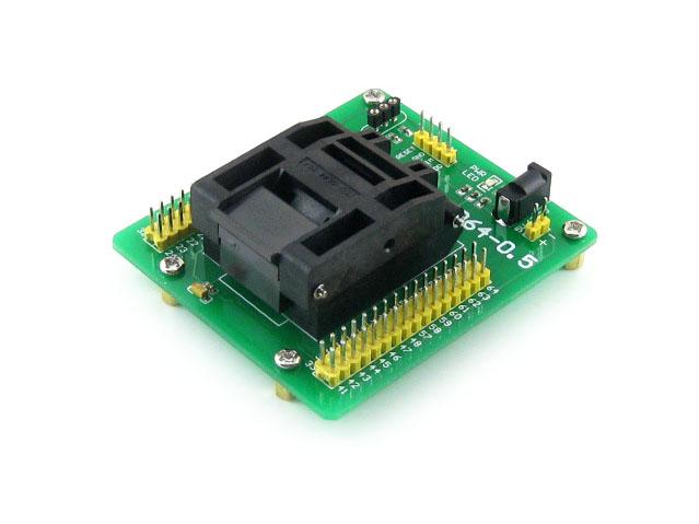 STM8专用编程座 烧写座 QFP64 0.5mm 原装进口座子
