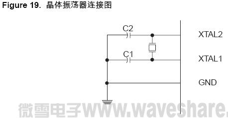 ATmega128 晶体振荡器连接图