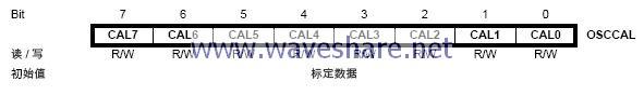 ATmega88振荡器标定寄存器- OSCCAL