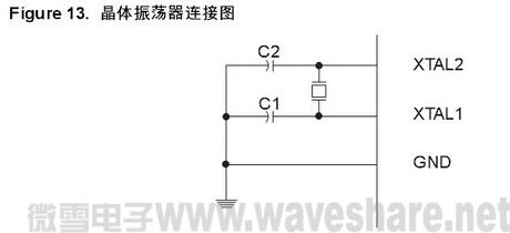 ATmega88 晶振连接图